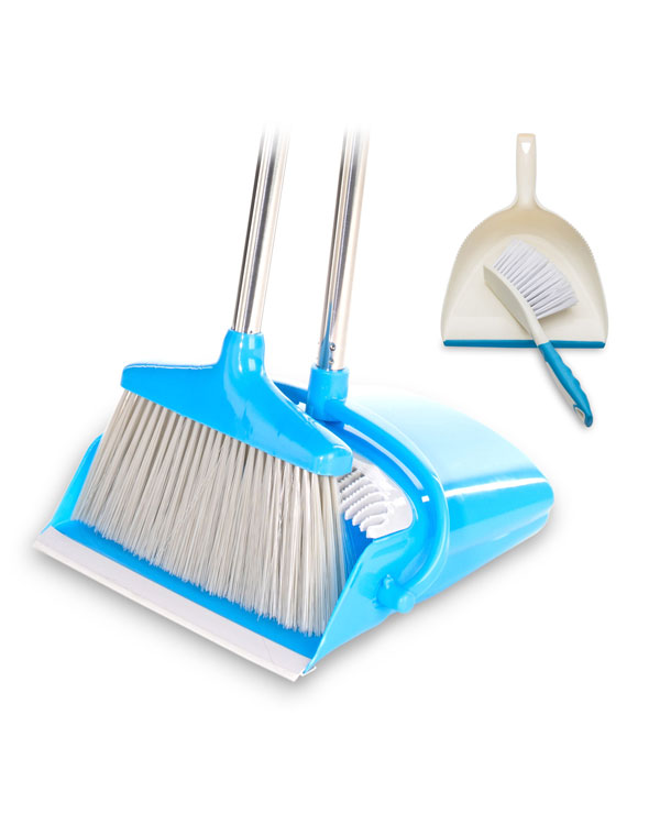 Broom and Dustpan Set - Variable Length Handle Broom and Dustpan Combo