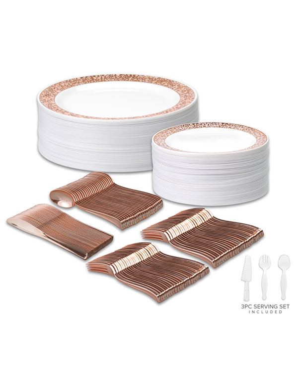 Disposable Wedding Dinnerware Set