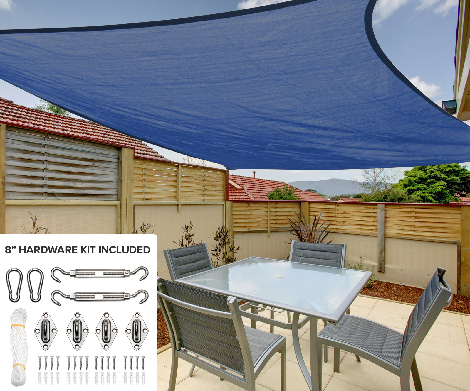 Park and Patio Sun Shade Sail
